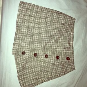 Gingham skirt: size small